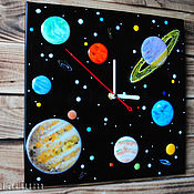 Для дома и интерьера handmade. Livemaster - original item Wall clock fusing