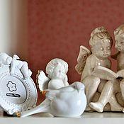 Для дома и интерьера ручной работы. Ярмарка Мастеров - ручная работа Коллекция Ангелочков статуэтки ангелы птичка рамка для фото. Handmade.