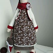 Куклы и игрушки ручной работы. Ярмарка Мастеров - ручная работа Тильда зайка в платье цвета корицы. Handmade.