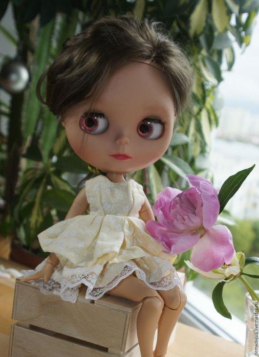 Одежда для кукол ручной работы. Ярмарка Мастеров - ручная работа. Купить Платье для куклы Блайз. Handmade. Коричневый, кукла, одежда