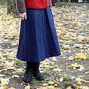 Одежда ручной работы. Ярмарка Мастеров - ручная работа Джинсовая юбка  клиньями. Handmade.
