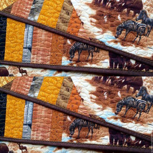Кухня ручной работы. Ярмарка Мастеров - ручная работа. Купить Жаркий ветер Африки - ланчмат. Handmade. Ланчмат, салфетки, пэчворк