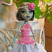 Куклы и игрушки ручной работы. Ярмарка Мастеров - ручная работа Вечерние розовые платья Monster High (МонстрХай). Handmade.