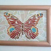 """Для дома и интерьера ручной работы. Ярмарка Мастеров - ручная работа Мозаичное панно ``  Бабочка"""""""". Handmade."""