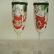 Подарки к праздникам ручной работы. Ярмарка Мастеров - ручная работа Новогодние мышата. Handmade.