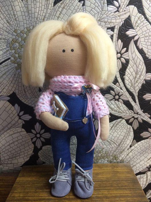 Куклы тыквоголовки ручной работы. Ярмарка Мастеров - ручная работа. Купить Кукла интерьерная текстильная малышка. Handmade. кукла в подарок