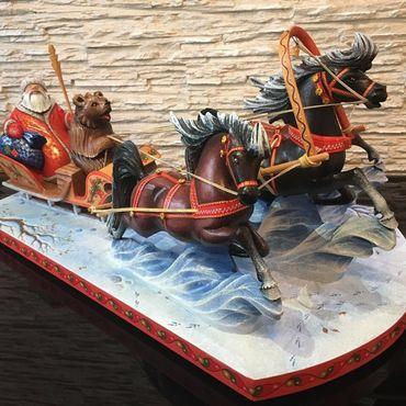 Русский стиль ручной работы. Ярмарка Мастеров - ручная работа Тройка лошадей. Handmade.