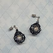 Украшения handmade. Livemaster - original item Earrings pearl and glass Lanterns. Handmade.
