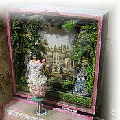 """Куклы и игрушки ручной работы. Ярмарка Мастеров - ручная работа Музыкальная шкатулка с  балериной  """" Цветочные ангелы"""". Handmade."""