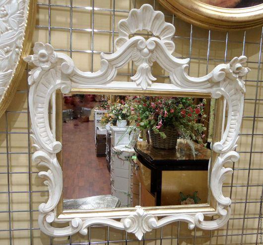 """Зеркала ручной работы. Ярмарка Мастеров - ручная работа. Купить Зеркало """"Помпадур"""". Handmade. Белый, зеркало в раме, зеркало в прихожую"""