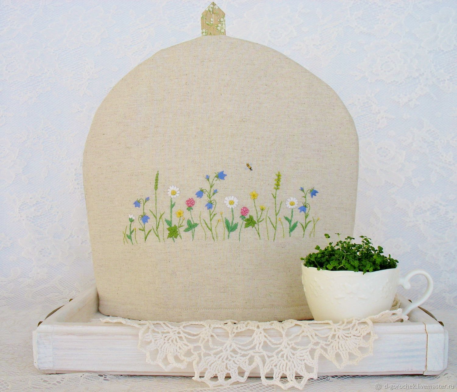 Hot water bottle for teapot with hand embroidery ' Herbs', Teapot cover, Ekaterinburg,  Фото №1