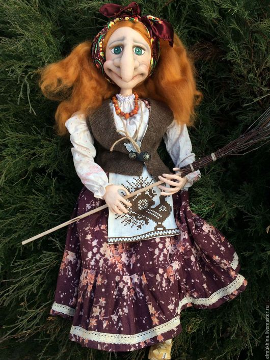 БабаЯга#Куклы#игрушки#handmade#бабаягатекстильная#коллекционнаякукла#куклабабаяга#оберегдля дома