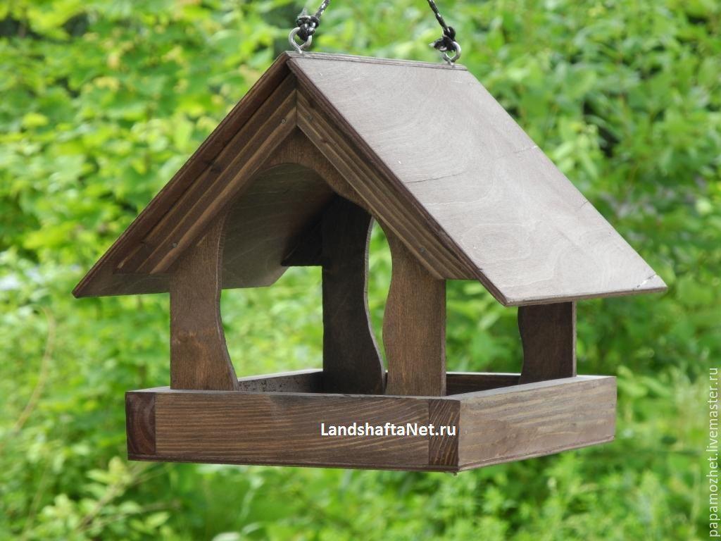 Фото оригинальные кормушки для птиц своими руками из дерева