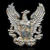 Винтаж handmade. Livemaster - original item Decorative panel made of cast iron. eagle. Handmade.