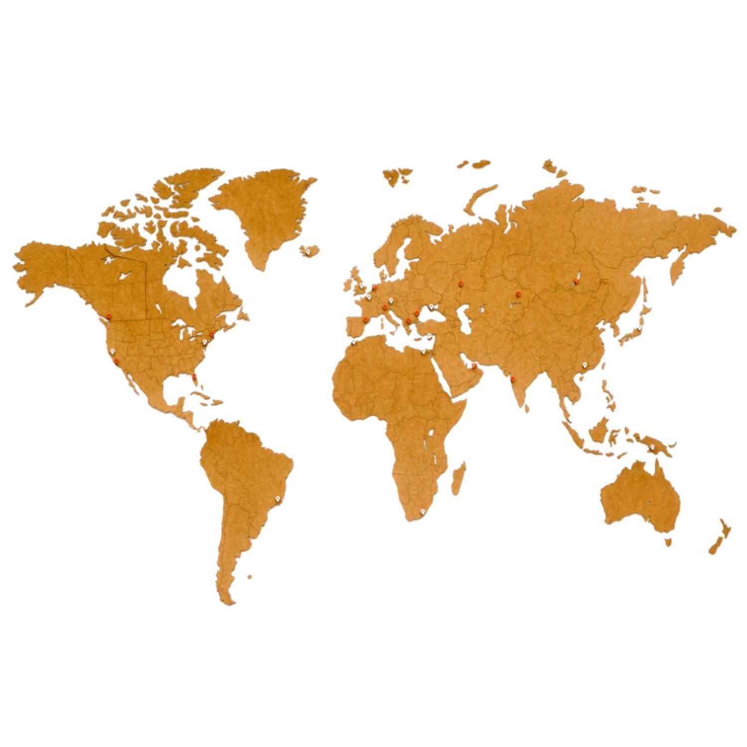 World map wooden Wall Decoration Brown 180h108cm, World maps, Moscow,  Фото №1