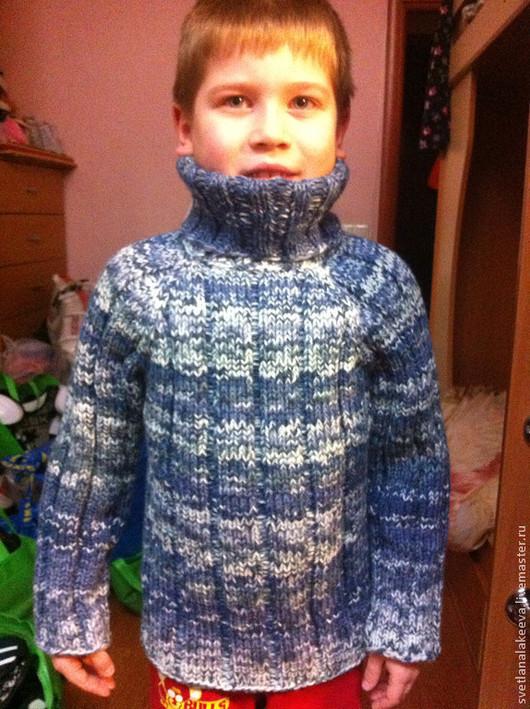 Одежда для мальчиков, ручной работы. Ярмарка Мастеров - ручная работа. Купить Свитер детский. Handmade. Разноцветный, свитер спицами
