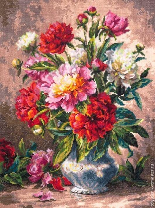 Картины цветов ручной работы. Ярмарка Мастеров - ручная работа. Купить Вышитые картины ПИОНЫ. Handmade. Вышитая картина