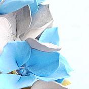 """Украшения ручной работы. Ярмарка Мастеров - ручная работа Ободок с цветами из фоамирана """"Серо-синие гортензии"""". Handmade."""