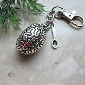 Аксессуары handmade. Livemaster - original item Anatomical Brain Keychain, LARGE 3D Human Brain Key Ring, Medical Keyr. Handmade.