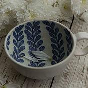 """Кружки ручной работы. Ярмарка Мастеров - ручная работа Чашка """"Синие водоросли"""". Handmade."""
