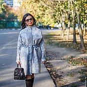 Одежда ручной работы. Ярмарка Мастеров - ручная работа Пальто серый мрамор для примера , изготовление на заказ. Handmade.