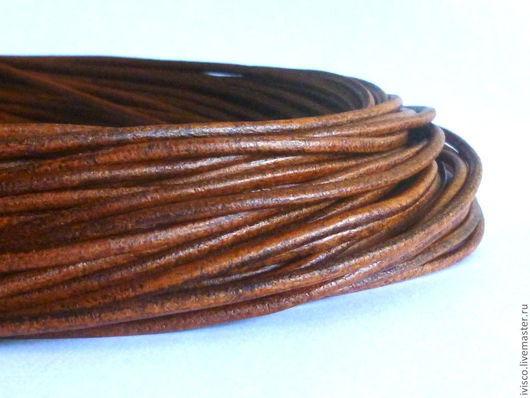 Для украшений ручной работы. Ярмарка Мастеров - ручная работа. Купить Кожаный шнур 2.5мм. Handmade. Шнур для украшений