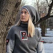 Одежда handmade. Livemaster - original item Sweater grey with light. Handmade.