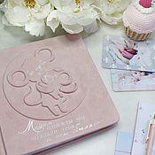 Подарок новорожденному ручной работы. Ярмарка Мастеров - ручная работа Фотоальбом для девочки. Handmade.