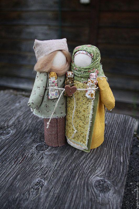 """Народные куклы ручной работы. Ярмарка Мастеров - ручная работа. Купить Народные русские куколки-неразлучники """"Скоро осень..."""". Handmade."""