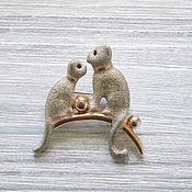 Vintage brooches handmade. Livemaster - original item Brooch Seals. Handmade.