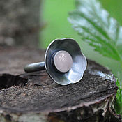Rings handmade. Livemaster - original item Ring silver Sakura pink quartz. Handmade.