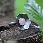 """Кольца ручной работы. Ярмарка Мастеров - ручная работа Кольцо серебряное """"Сакура"""" с розовым кварцем. Handmade."""