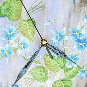 """Для дома и интерьера ручной работы. Ярмарка Мастеров - ручная работа Роспись.""""Ранняя весна""""  часы настенные. Handmade."""