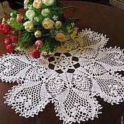 Для дома и интерьера handmade. Livemaster - original item Doily crochet round big sirloin in (No. 102). Handmade.