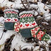 """Аксессуары ручной работы. Ярмарка Мастеров - ручная работа Носки """"Рождество"""". Handmade."""