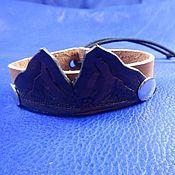 Украшения handmade. Livemaster - original item Leather bracelet Mountain. Handmade.