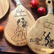 Для дома и интерьера handmade. Livemaster - original item Board with a handle made of solid Beech exclusive engraving you need.. Handmade.