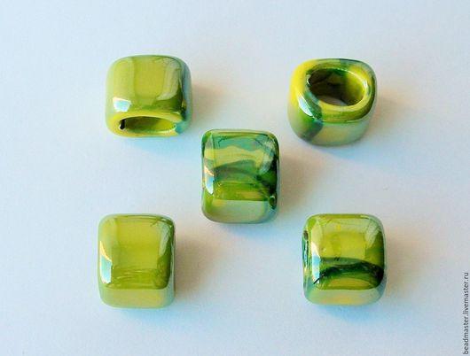 Для украшений ручной работы. Ярмарка Мастеров - ручная работа. Купить Бусина керамическая Регализ (БКР73). Handmade. Зеленый, регализ
