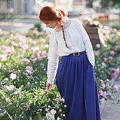 """Одежда ручной работы. Ярмарка Мастеров - ручная работа Льняная рубашка """"Флора"""". Handmade."""