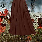 """Одежда ручной работы. Ярмарка Мастеров - ручная работа коричневая юбка из джерси """"шоколадная"""". Handmade."""