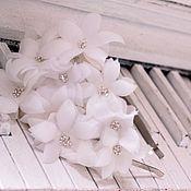 Свадебный салон ручной работы. Ярмарка Мастеров - ручная работа Ободок -шляпка из цвeтов. Handmade.