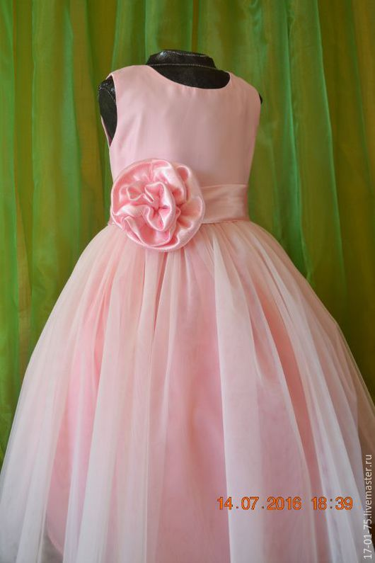 Одежда для девочек, ручной работы. Ярмарка Мастеров - ручная работа. Купить праздничное розовое платье. Handmade. Розовый, платье для девочки