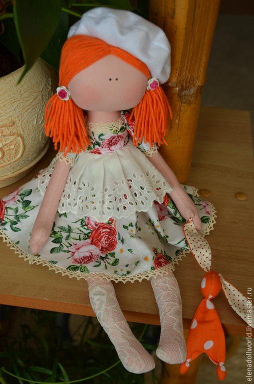 Куклы тыквоголовки ручной работы. Ярмарка Мастеров - ручная работа. Купить Кукла,,Розочка,,. Handmade. Бежевый, тыквоголовка, шебби-шик