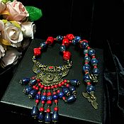 Украшения handmade. Livemaster - original item Necklace with coral