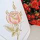 Салфетка с вышивкой `Золотая роза` `Шпулькин дом` мастерская вышивки