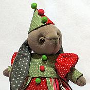 Куклы и игрушки ручной работы. Ярмарка Мастеров - ручная работа Зайка тедди грустная клоунесса Юна. Handmade.