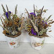Цветы и флористика handmade. Livemaster - original item Interior arrangement. Dried flowers in pots. Eco-decor. Handmade.