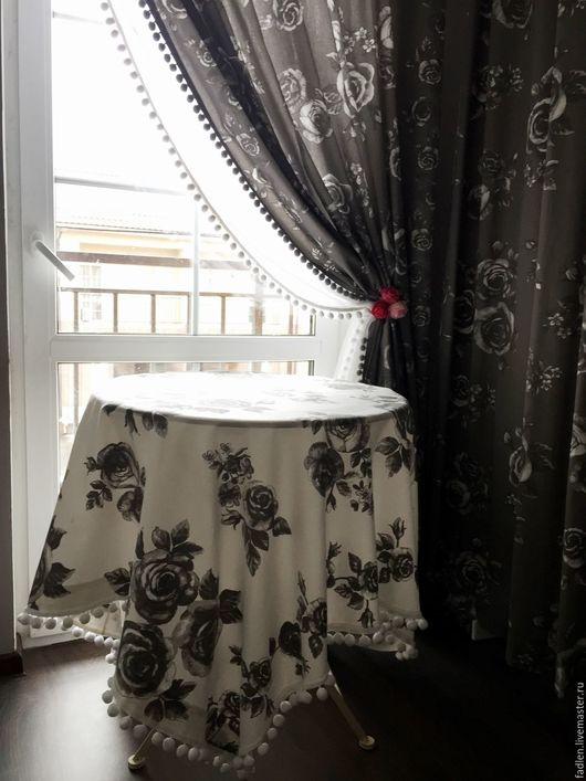 Штора в стиле шебби-шик. Купить занавески для спальни.