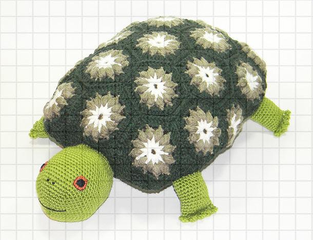 Вязаная подушка-игрушка «Черепаха», Мягкие игрушки, Краснодар,  Фото №1