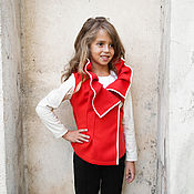 Одежда handmade. Livemaster - original item Asymmetric jacket for girls.. Handmade.